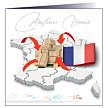 """Carte de voeux """"Nation"""""""