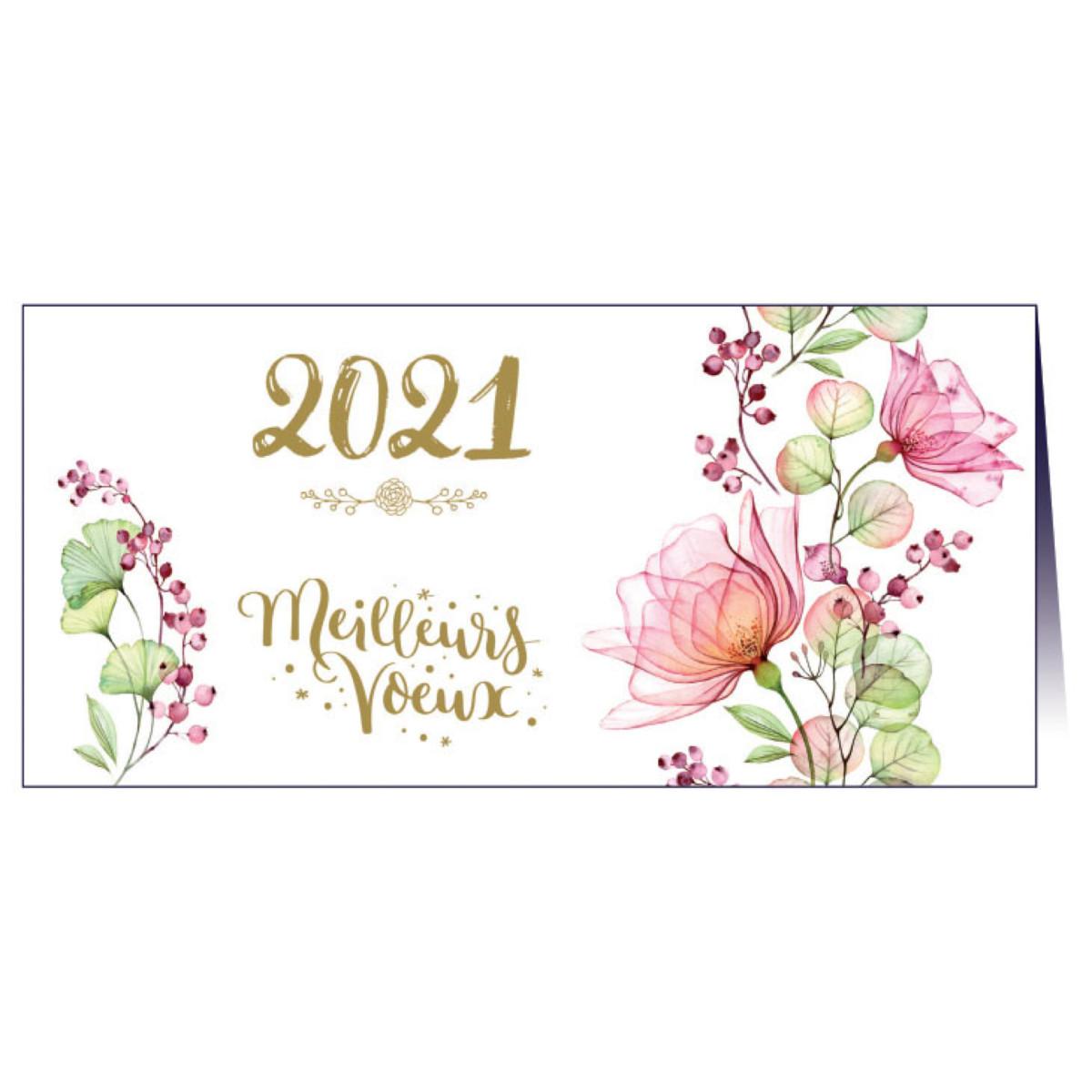 """Carte de voeux """"Floral"""""""