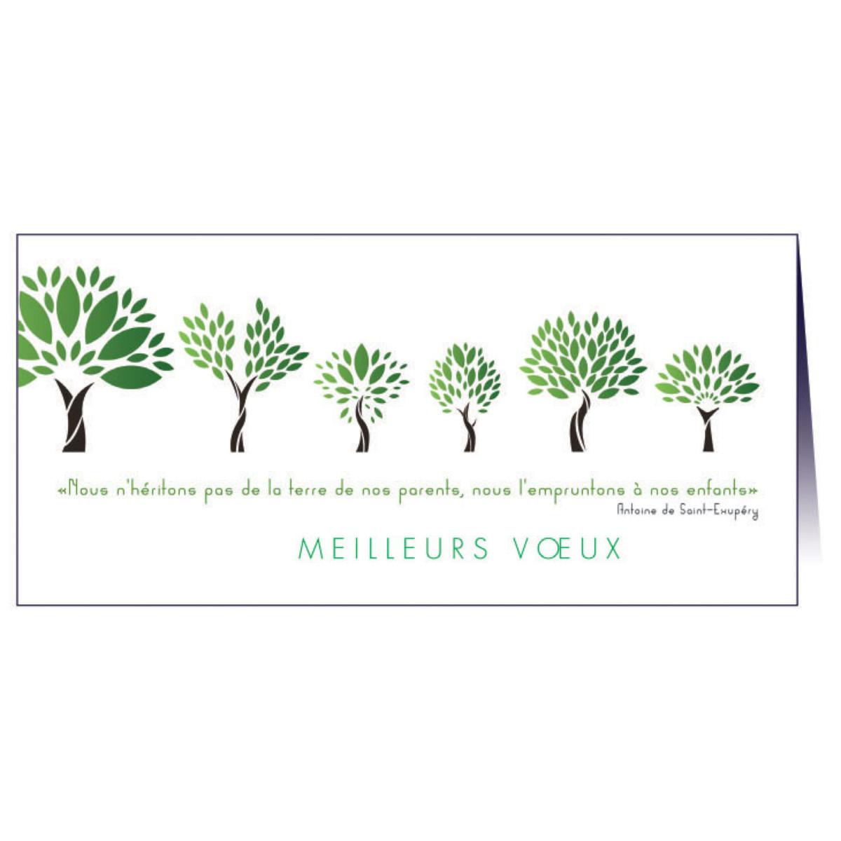 """Carte de voeux """"Croissance"""""""