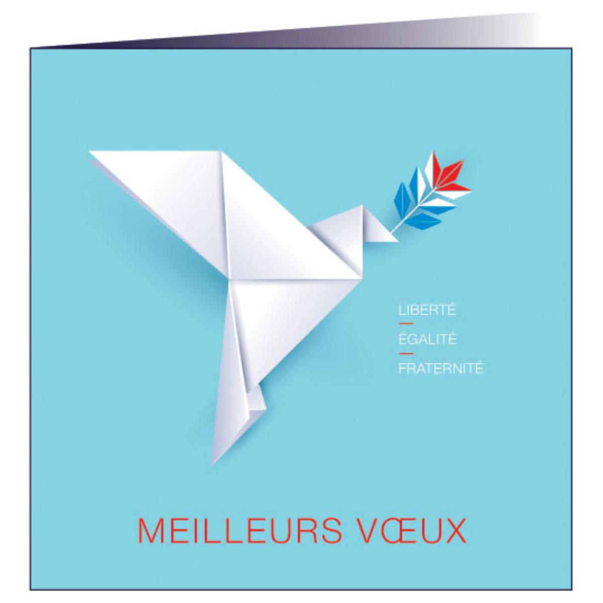 """Carte de voeux """"Origami"""""""