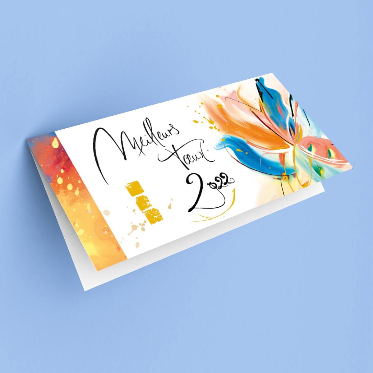"Carte de voeux ""Calligraphie"""