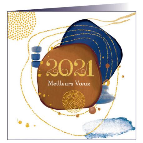"""Carte de voeux """"Voeux 2021"""""""