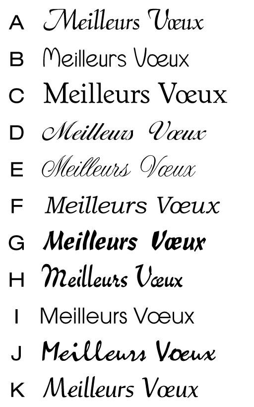Choix des caractères